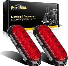 Partsam 2PCS Trailer Truck Boat Bus Red LED 6