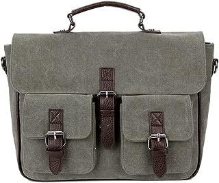 ADPTT Mens Vintage Briefcase Satchel Mens Adjustable Shoulder Strap Tote Bag Leather Shoulder Messenger Bag Satchel Crossbody 15.6 Laptop Bag Business Briefcase Dark Brown
