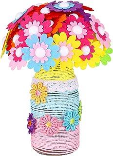 LEMESO Kit de botellas, botones de colores falsos para niños, juegos escolares, educativos, actividades creativas, regalos...