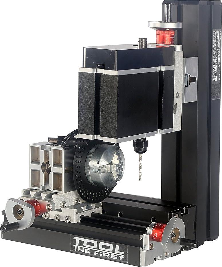 富することになっているサンダーミニ旋盤 卓上工作機械 DIYツール 分断板付き 大電力電鋳ミニメタル6軸掘削機 フライス盤