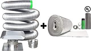 Rockford Chimney Supply Stainless Steel Flexible Chimney Liner Insert Kit, 6 Inch x 25 Feet with Blanket Insulation Kit