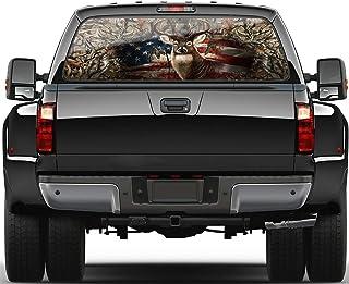 #134-01 Heart Back Window Decal Sticker Vinyl Graphic Tribal Curl Car Truck SUV
