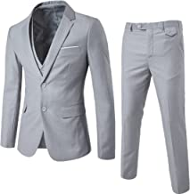 silver three piece suit