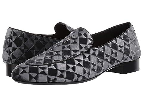Giuseppe Zanotti Cut Geometric Velvet Loafer