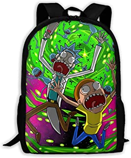 Rick and Morty Water Resistant Backpack Outdoor Laptop Bookbag
