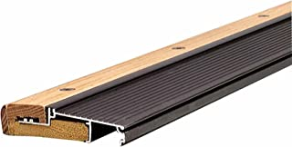 M-D Building Products 77800 1-1/8-Inch by 4-9/16-Inch - 73-Inch TH393 Adjustable Aluminum and Hardwood Sill Inswing, Bronze