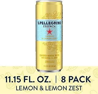 S.Pellegrino Essenza Lemon & Lemon Zest Flavored Mineral Water, 11.15 Fluid Ounce (8 Pack)