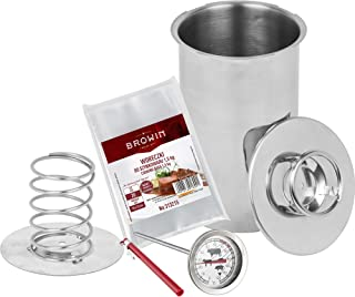 Biowin - Juego de Olla a presión (1,5 kg, Incluye Bolsa para cocinar Chefs y termostato de Leche)