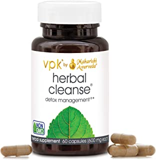 Herbal Cleanse   60 Vegetarian Capsules - 500 mg ea.   Natural Laxative for Intestinal Cleansing   Gentle, Non-Habit-Formi...