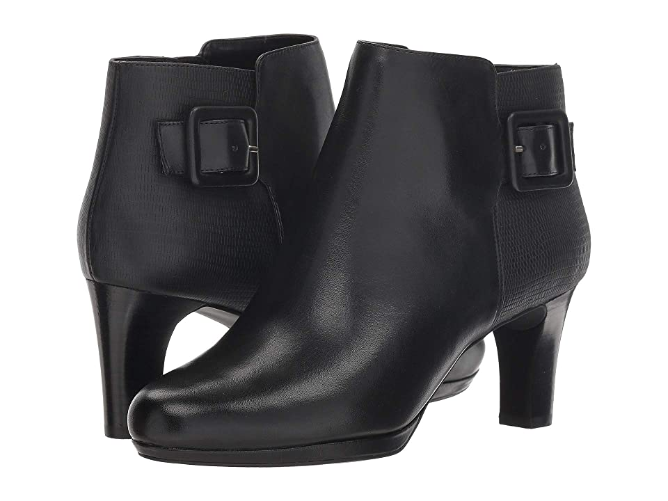 Rockport Total Motion Leah Bootie (Black Leather) Women
