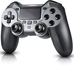 Controller for PS4 Diswoe Wireless Controller for Playstation 4/3/Pro/Slim/PC, Touch Panel Gamepad with Dual Vibration and Audio Function, Gyro and Mini LED Indicator