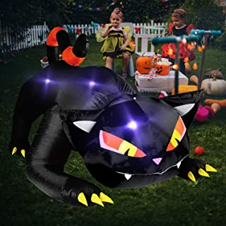 halloween cat yard inflatables