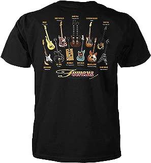 Famous Guitars Adult Short Sleeve T-Shirt
