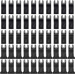 Powerextra 50 PACK Bi-Metal Wood/Metal Oscillating Saw Blades Universal Quick Release Multitool Tool Blade Japan Tooth for Bosch, Craftsman, DeWalt, Dremel, FEIN, Ridgid, TCH, Makita, Milwaukee