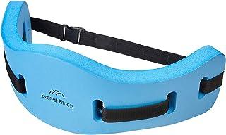 EVEREST FITNESS cinturón de Aquajogging para Deportes acuáticos y Entrenamiento en la Piscina, un Dispositivo de flotación Seguro, hasta 100 kg de Peso Corporal, universalmente Ajustable, de Espuma
