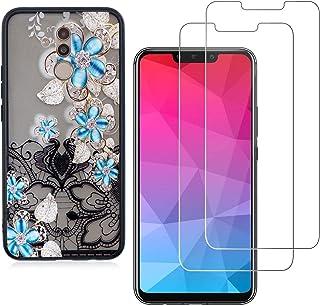 comprar comparacion YKTO Cristal Templado + Funda para Huawei Mate 20 Lite 2018 6.3 Pulgadas Fina 3D Moda Dibujos Antigolpes Caso 2 Piezas H...