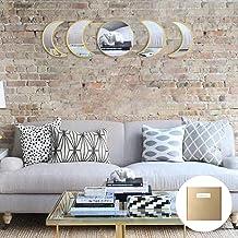 YUBAIHUI Scandinavian Bohemian Home Wall Decor Moon Phase Decorative Mirror Set Acrylic Bedroom Decoration Self Adhesive O...