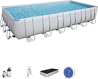 Bestway Pool Power steel Rect, Multi-Colour, 7.32 x 3.66 x 1.32, 56475