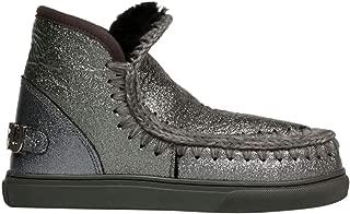MOU Luxury Fashion Womens FW111008C3DGLBK Silver Ankle Boots | Fall Winter 19