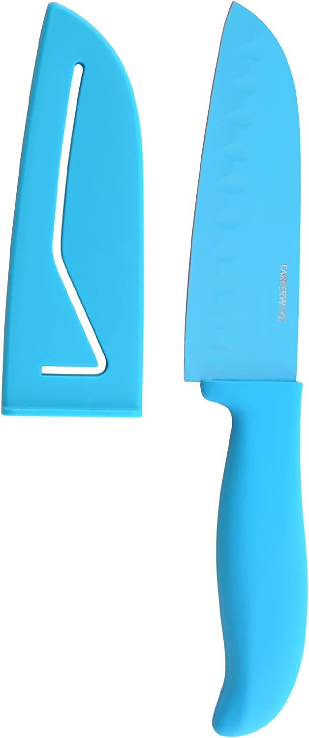 Farberware Low price Over item handling ☆ 5119324 Non-Stick Resin Santoku Sheath Knife and with