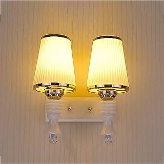 PRIDE S Wandleuchte Doppel - Kopf Nachttischlampe Einfache Schlafzimmer Warm Wohnzimmer Aisle Glas LED Korridor Eingang Treppenlampe B06XGBCFJ3  Ausgezeichnete Funktion