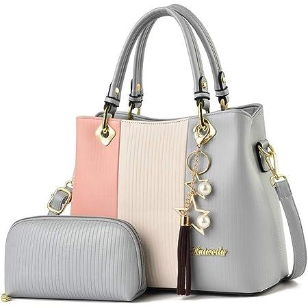 KLGDA Womens Handbag Fashion Leather Shoulder Bag Solid Color High-Grade Messenger Bag Totes Purple