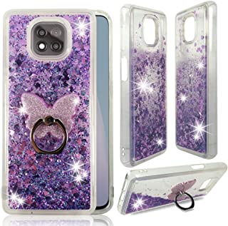 ZASE Moto G Power 2021 Clear Case Liquid Glitter Sparkle Bling Cute Girls Woman Protective Cover Floating Quicksand for Mo...