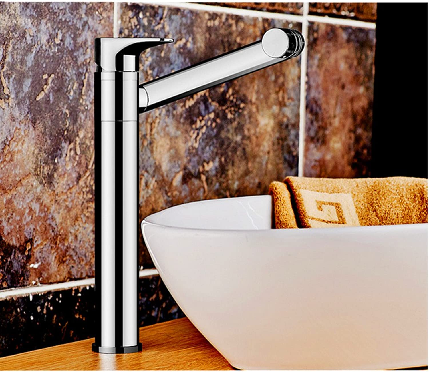 QYJ Wash Basin Hot And Cold Faucet Copper Thickened redating Bathroom Toilet Sink Washbasin Heightening Faucet redary Water Throw Away Mug Cup Wash Your Head Without Bending,High