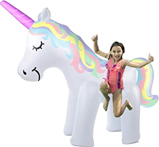 THE ORIGINAL UNICORN SPRINKLER Toy - Giant Inflatable Unicorn Sprinkler for Kids Adults - Great Outdoor Birthday Party Game for Backyard - Unicorn Gifts for Girls and Boys - Durable PVC