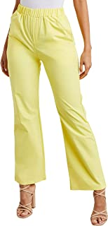Elasticated Waist Wide Leg Trouser with Side Pocket 80417437 For Women Closet by Styli