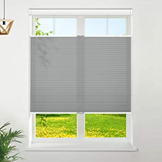 """Keego Cellular Shades Cordless Top Down Bottom Up Honeycomb Blinds, Custom Cut to Size Window Blind, 25"""" W x 48"""" H, Grey"""