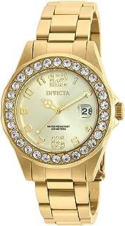 Invicta 21397 Pro Diver Women's Wrist Watch Stainless Steel Quartz Gold Dial