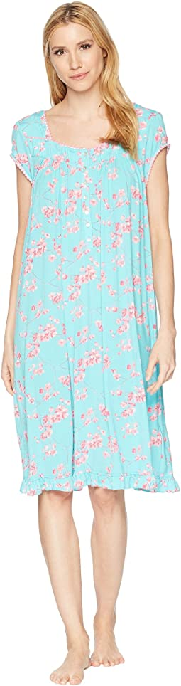 Eileen West - Modal Floral Cherry Blossoms Print Waltz Nightgown