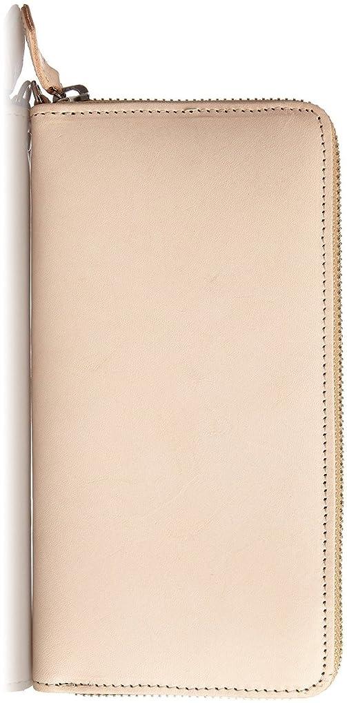 名義ですり不純Harvie and Hudson [ハービーアンドハドソン] 高級大人のラウンドファスナー長財布 (HA-1002) (ベージュ)