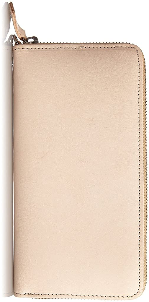 全員モニタースーパーHarvie and Hudson [ハービーアンドハドソン] 高級大人のラウンドファスナー長財布 (HA-1002) (ベージュ)