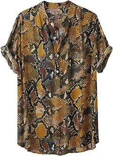 Camisas Hawaianas Hombre Manga Corta 2020 SHOBDW Playa de Verano Camisas Hombres Tallas Grandes Baratas Cuello de Solapa C...