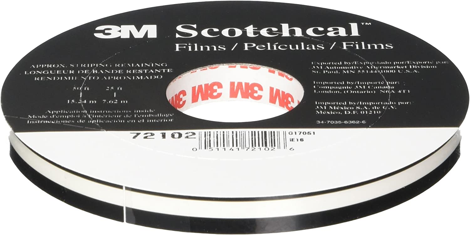 3M 72102 72102 72102 Blk Striping Tape Roll bfde91 - pfabp