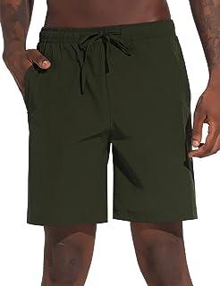 Pantalon Chandals Hombre Corto Pantalones Deportivos Verano de Algodón Pantalones de Deporte Jogger Fitness Rayas