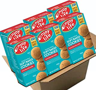 Enjoy Life Soft Baked Cookies, Soy free, Nut free, Gluten free, Dairy free, Non GMO, Vegan, Snickerdoodle, 6 Boxes