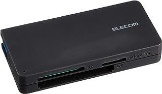 エレコム カードリーダー USB3.0 9倍速転送 ケーブル収納タイプ ブラック MR3-K012BK