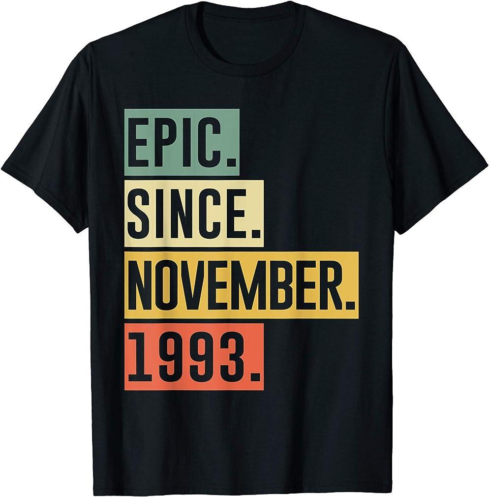 26th Birthday 26 Yrs Old Retro Epic Since November 1993 T-shirt