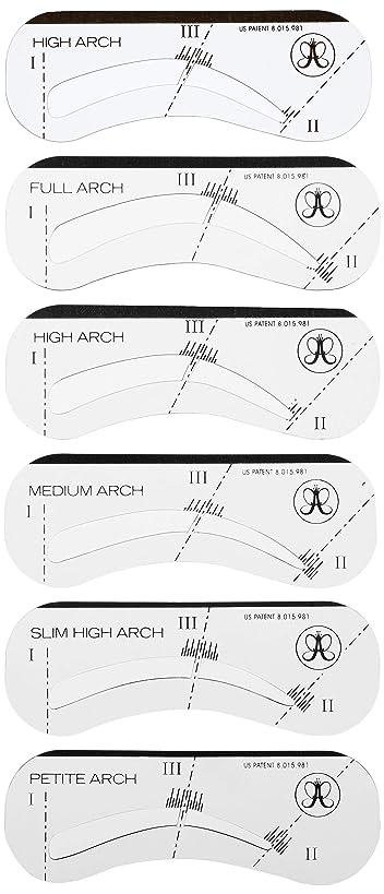 スキルコンパクト嘆願Stencils ステンシルス アイブローテンプレート 眉形成シート