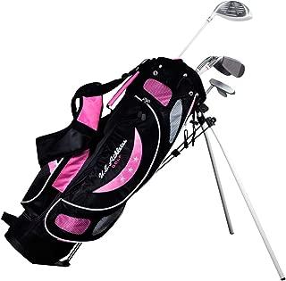 LEZAX(レザックス) U.S.Athlete ジュニアゴルフセット 9-12歳 ピンクタイプ USCS-5755 PK       シャフト:ジュニア用軽量カーボンシャフト ライ角(1W):63度