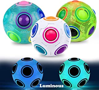 3 Pack Puzzle Toys Magic Ball Birthday Holiday Gifts for Kids Adults Grown-Up Toys Relieves Stress and Anxiety ADD ADHD Fidget Toy Games Round Rubik's 2.7
