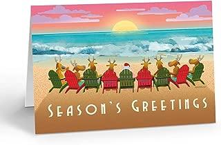 Beach Sunset Christmas Card 18 Cards & 19 Envelopes - Beach Christmas Cards