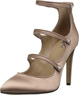 The Fix Amazon Brand Women's Maya Pointed-Toe Military-Inspired Strap Pump with Decorative Jewels