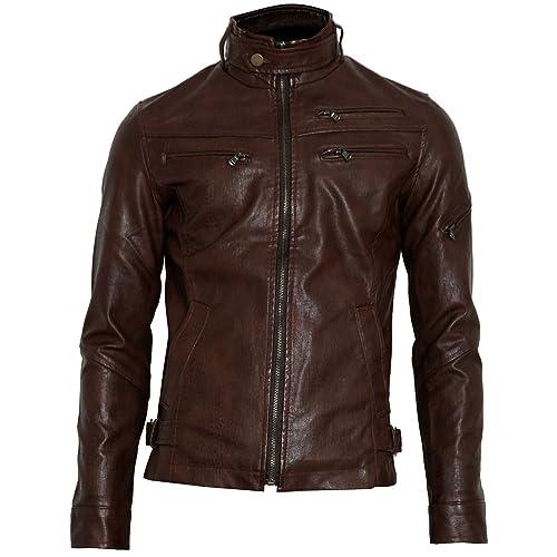 7c86d14d2 Zara Mens Leather Jackets  Amazon.com