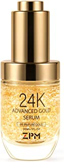 24K Gold Anti Aging Face Serum Moisturizer Enriched with Vitamin C Serum, Hyaluronic Acid, Vitamin E Cream for Day and Nig...