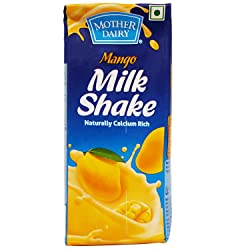 Mother Dairy Milk Shake - Mango, 200ml Carton