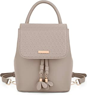 Small Backpack for Women UTO PU Leather Ladies Mini Rucksack Travel Daypack Shoulder Purses and Handbags